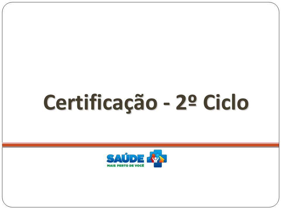 Certificação - 2º Ciclo