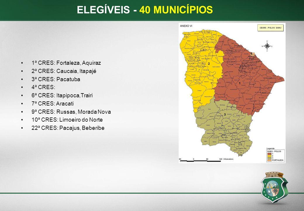 ELEGÍVEIS - 40 MUNICÍPIOS