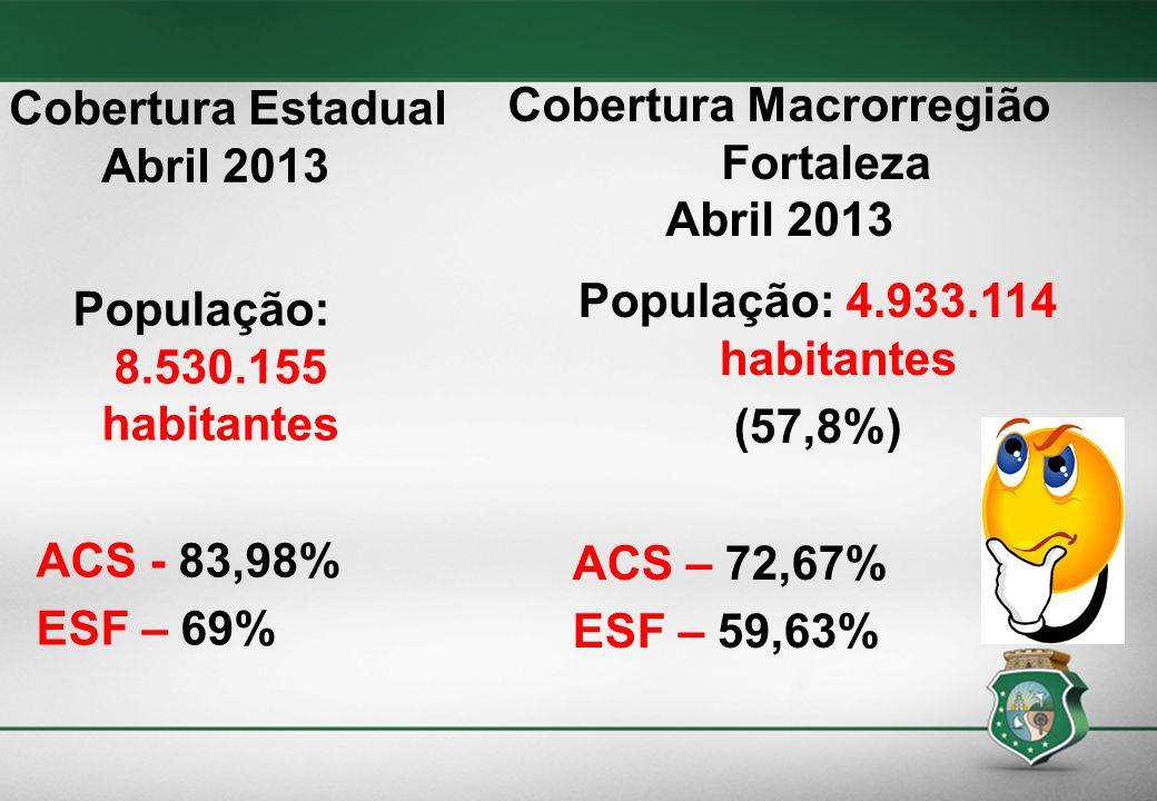 Cobertura Estadual Abril 2013