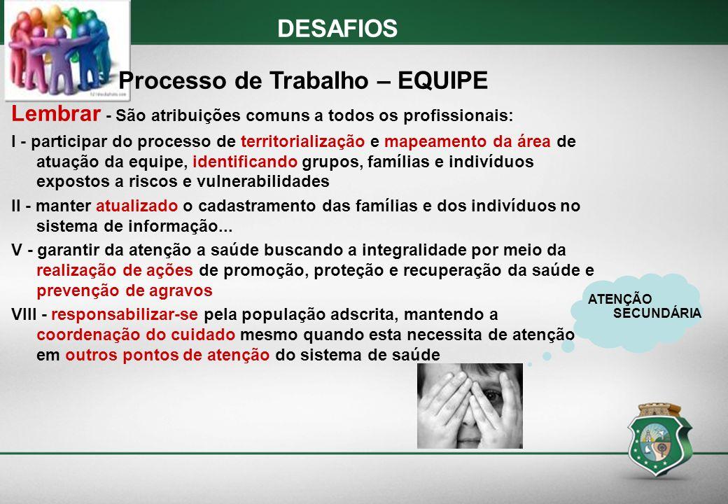 Processo de Trabalho – EQUIPE