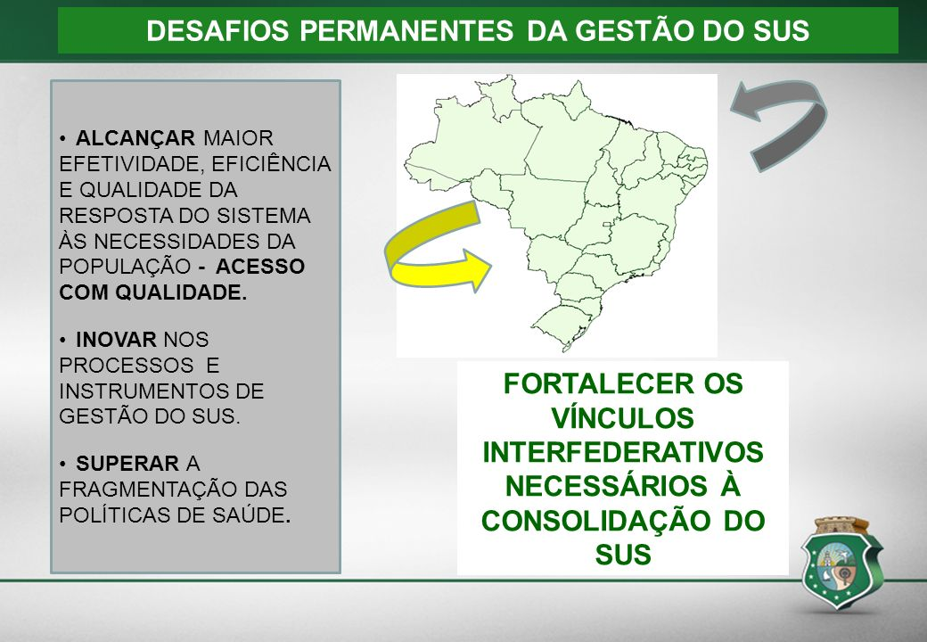 DESAFIOS PERMANENTES DA GESTÃO DO SUS