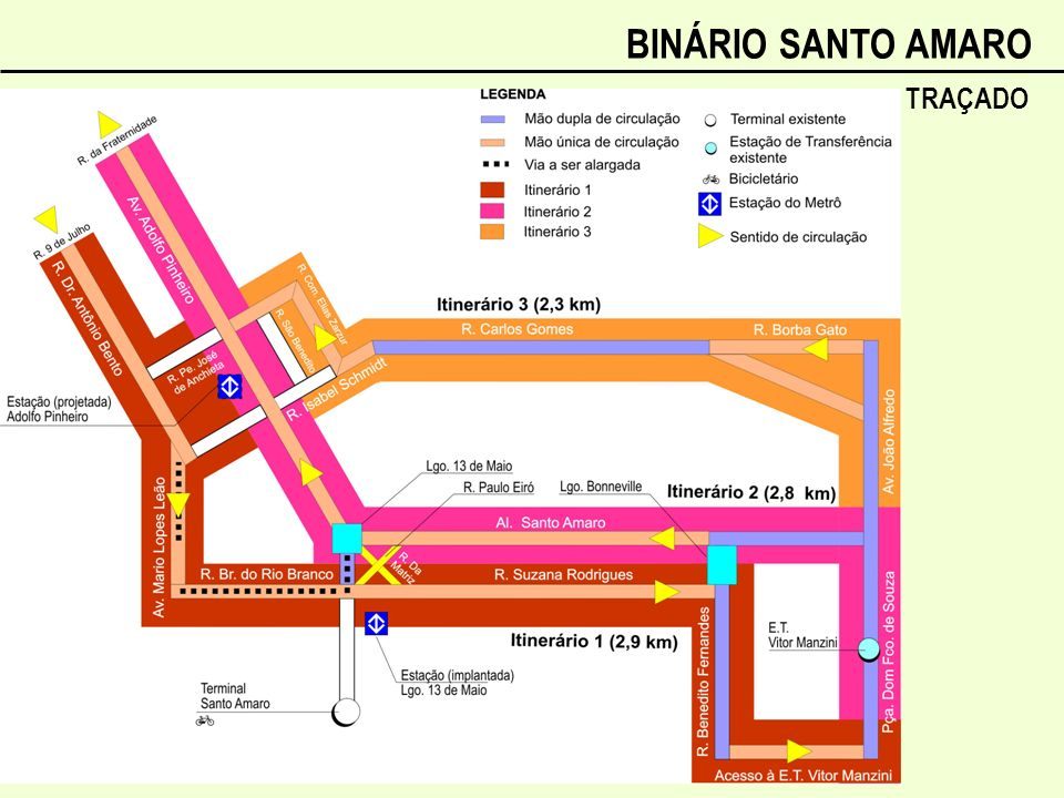 BINÁRIO SANTO AMARO TRAÇADO
