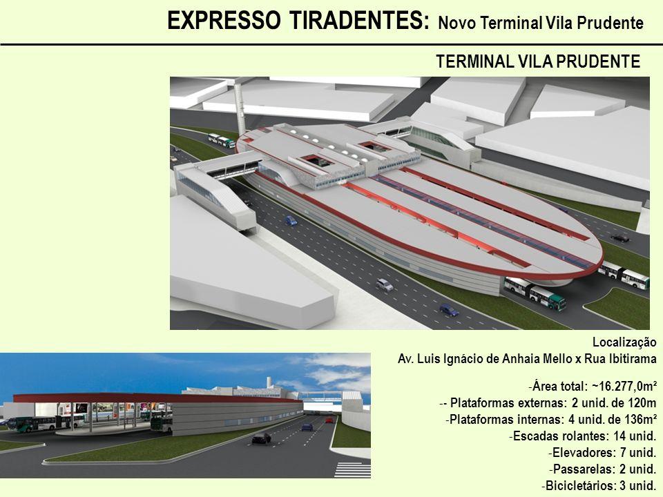 EXPRESSO TIRADENTES: Novo Terminal Vila Prudente