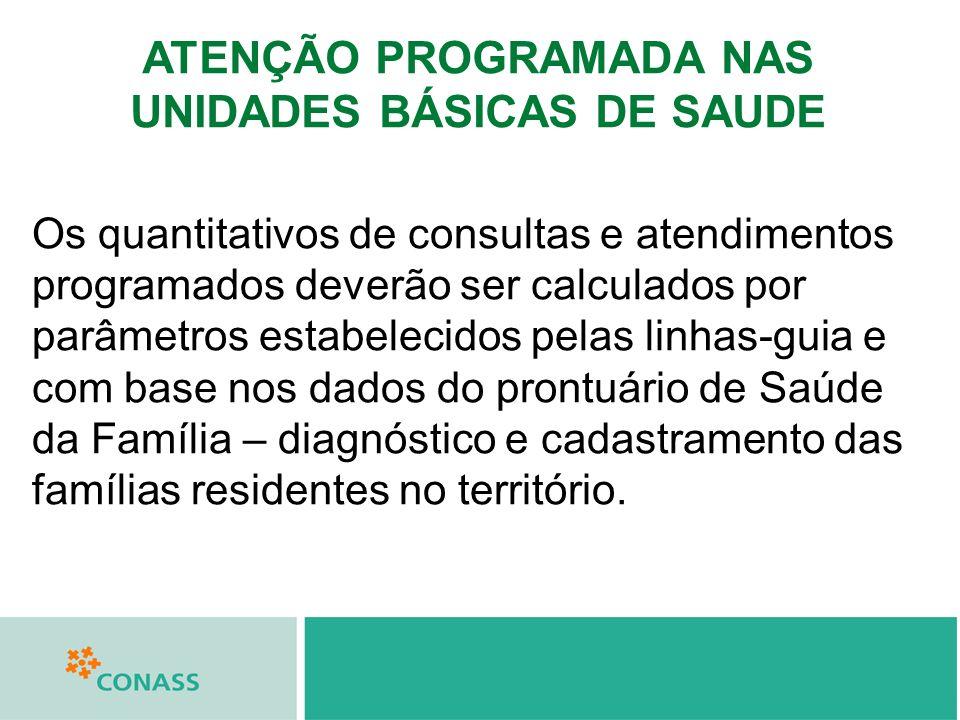 ATENÇÃO PROGRAMADA NAS UNIDADES BÁSICAS DE SAUDE