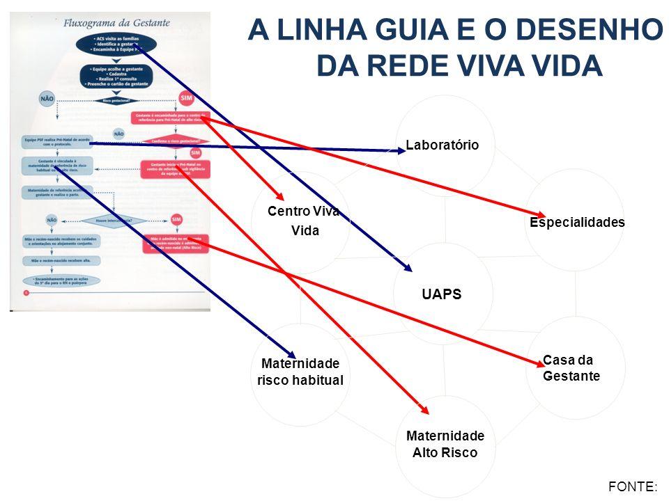 A LINHA GUIA E O DESENHO DA REDE VIVA VIDA UAPS Laboratório