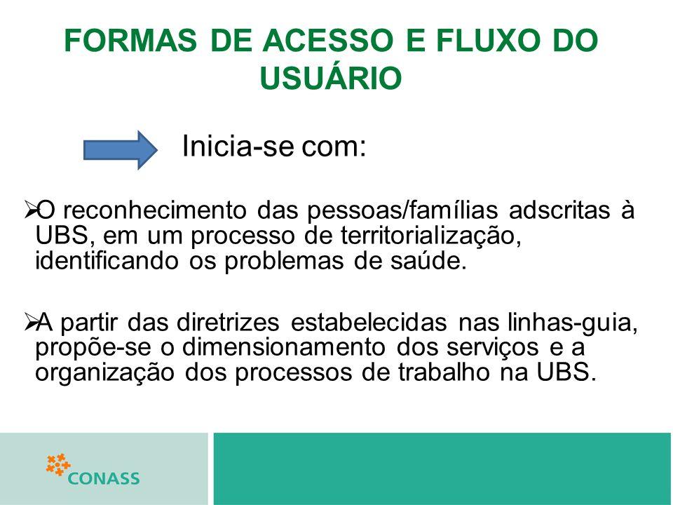 FORMAS DE ACESSO E FLUXO DO USUÁRIO