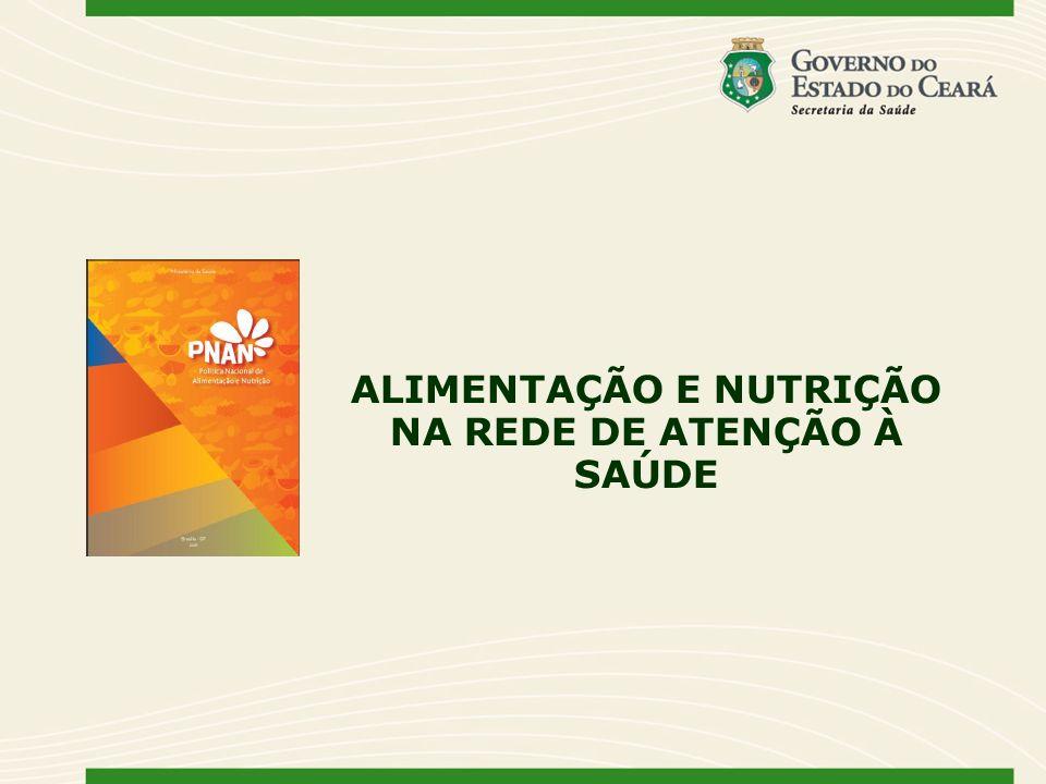 ALIMENTAÇÃO E NUTRIÇÃO NA REDE DE ATENÇÃO À SAÚDE