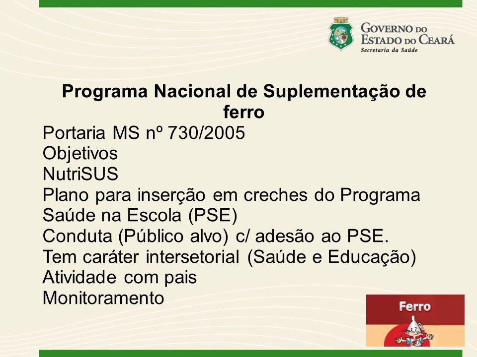 Programa Nacional de Suplementação de ferro