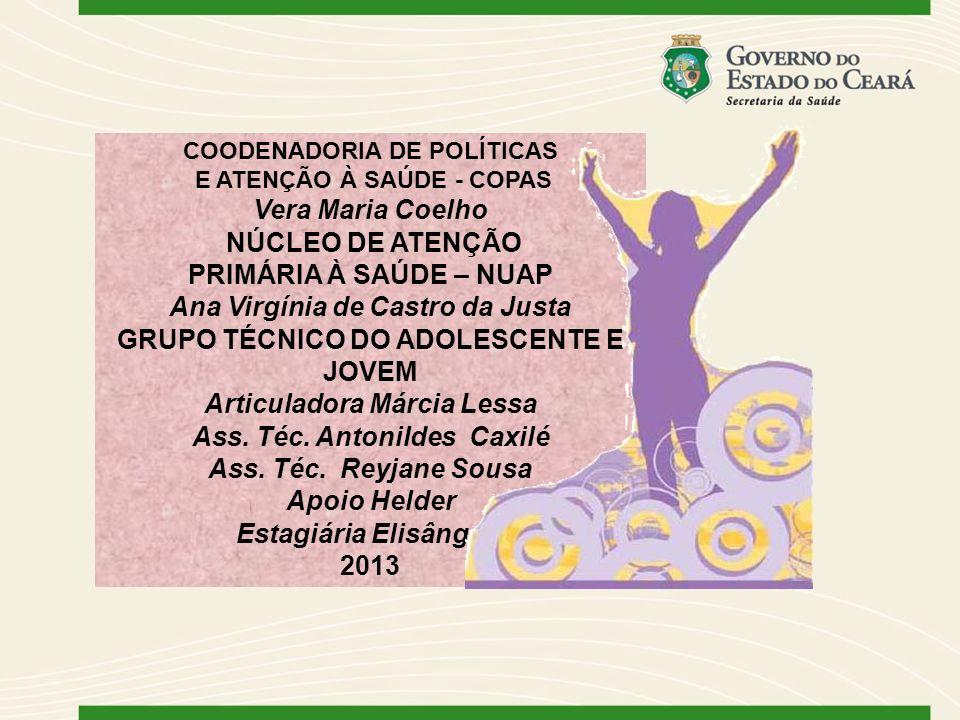 Ana Virgínia de Castro da Justa GRUPO TÉCNICO DO ADOLESCENTE E JOVEM