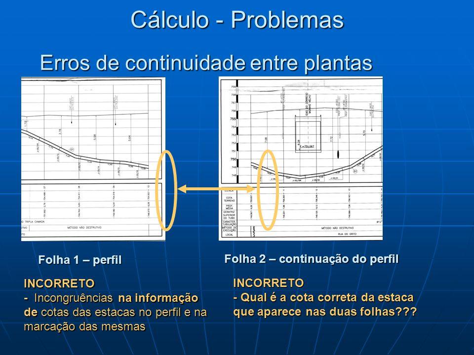 Cálculo - Problemas Erros de continuidade entre plantas