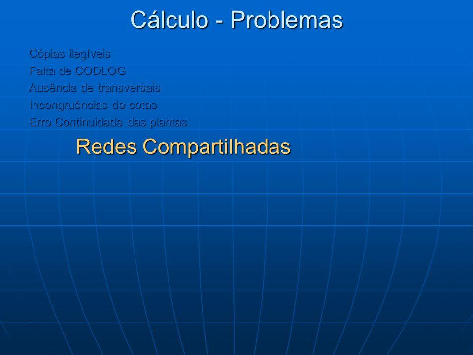 Cálculo - Problemas Redes Compartilhadas Cópias ilegíveis