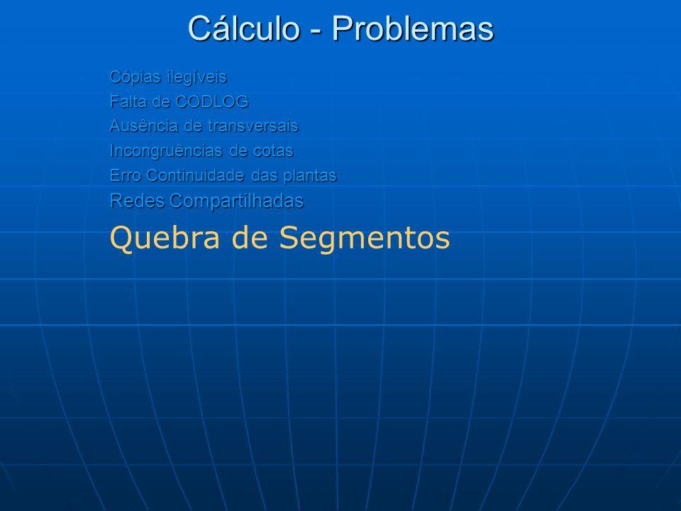 Cálculo - Problemas Quebra de Segmentos Redes Compartilhadas