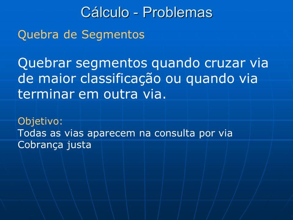 Cálculo - Problemas Quebrar segmentos quando cruzar via