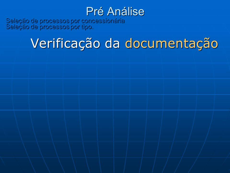 Verificação da documentação