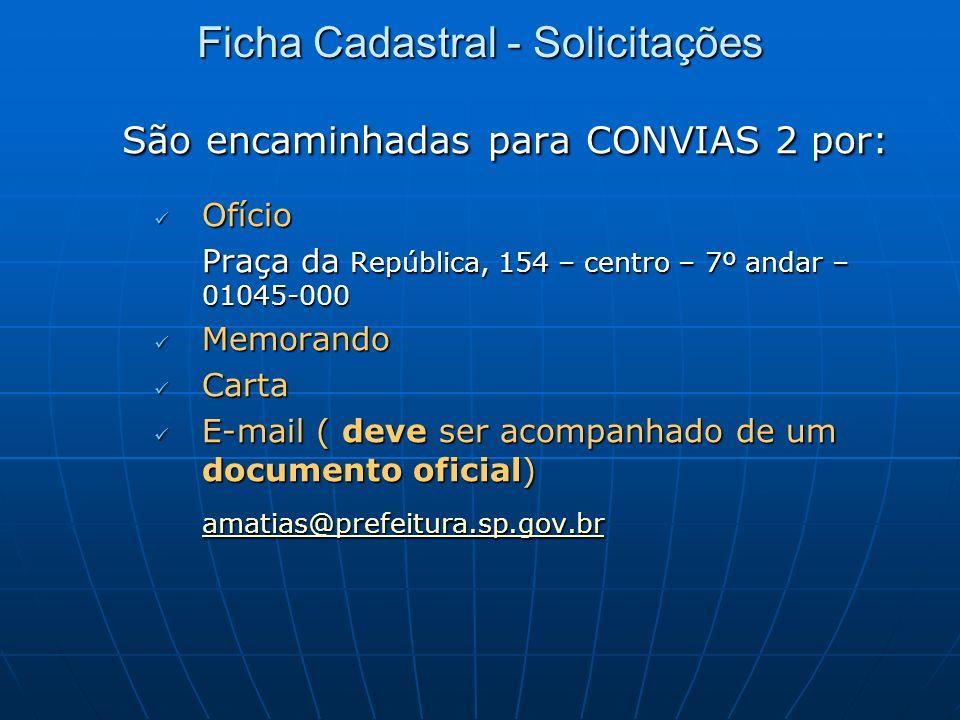 Ficha Cadastral - Solicitações