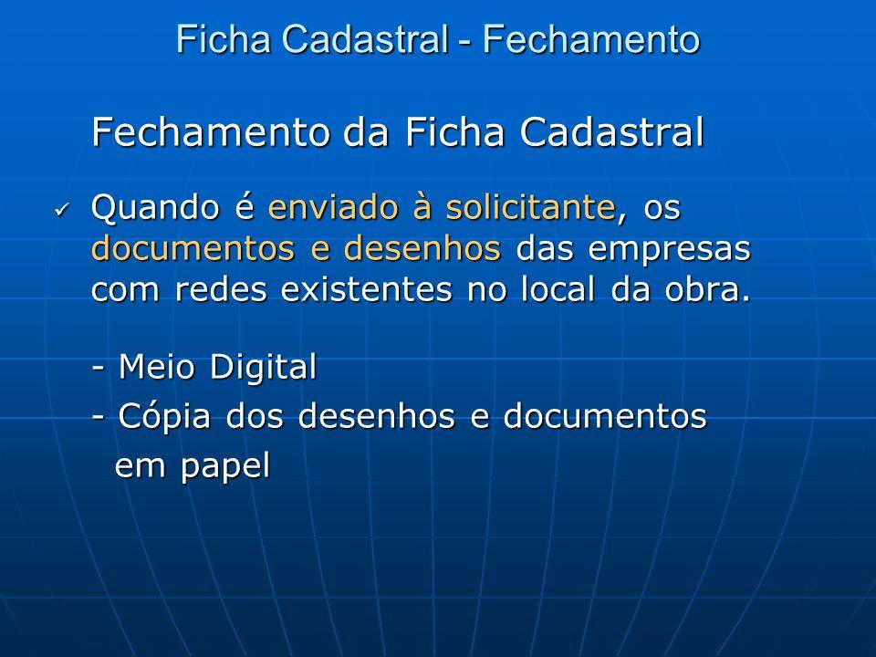 Ficha Cadastral - Fechamento