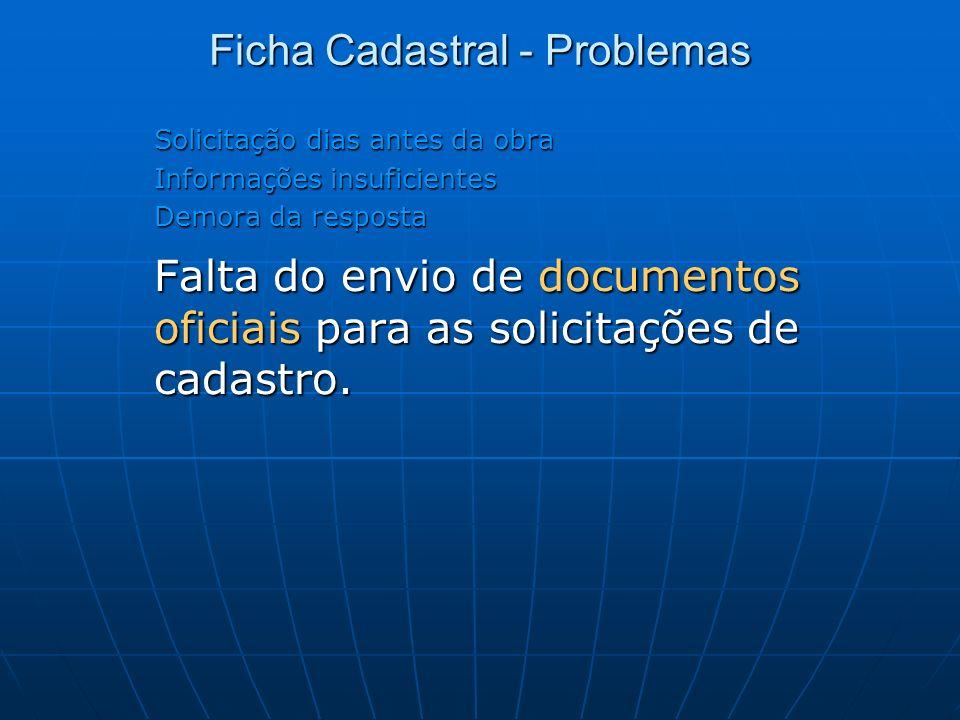 Ficha Cadastral - Problemas