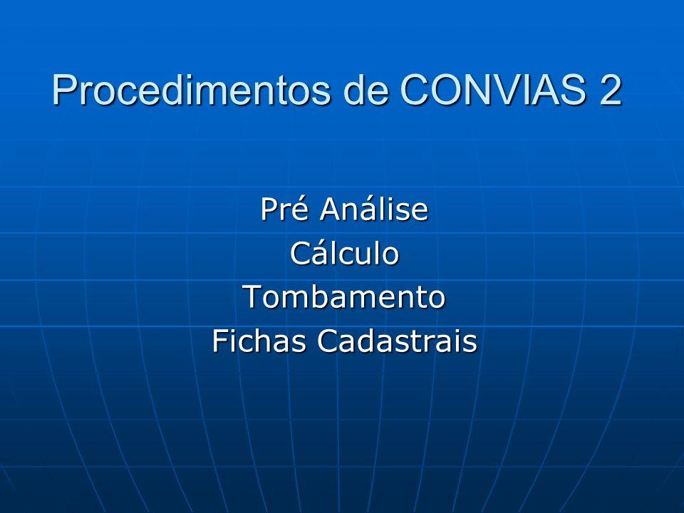 Procedimentos de CONVIAS 2