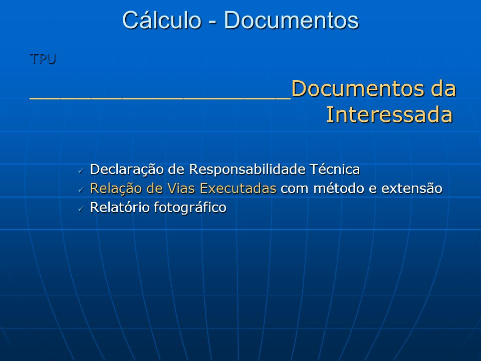 _________________Documentos da Interessada