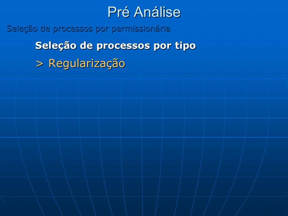 Pré Análise Seleção de processos por tipo > Regularização