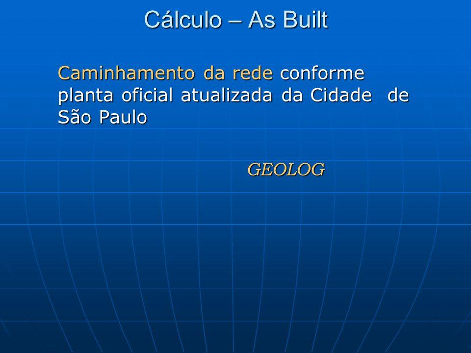 Cálculo – As Built GEOLOG