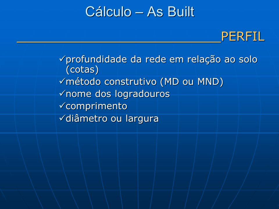 Cálculo – As Built __________________________PERFIL
