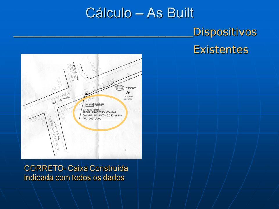 CORRETO- Caixa Construída indicada com todos os dados