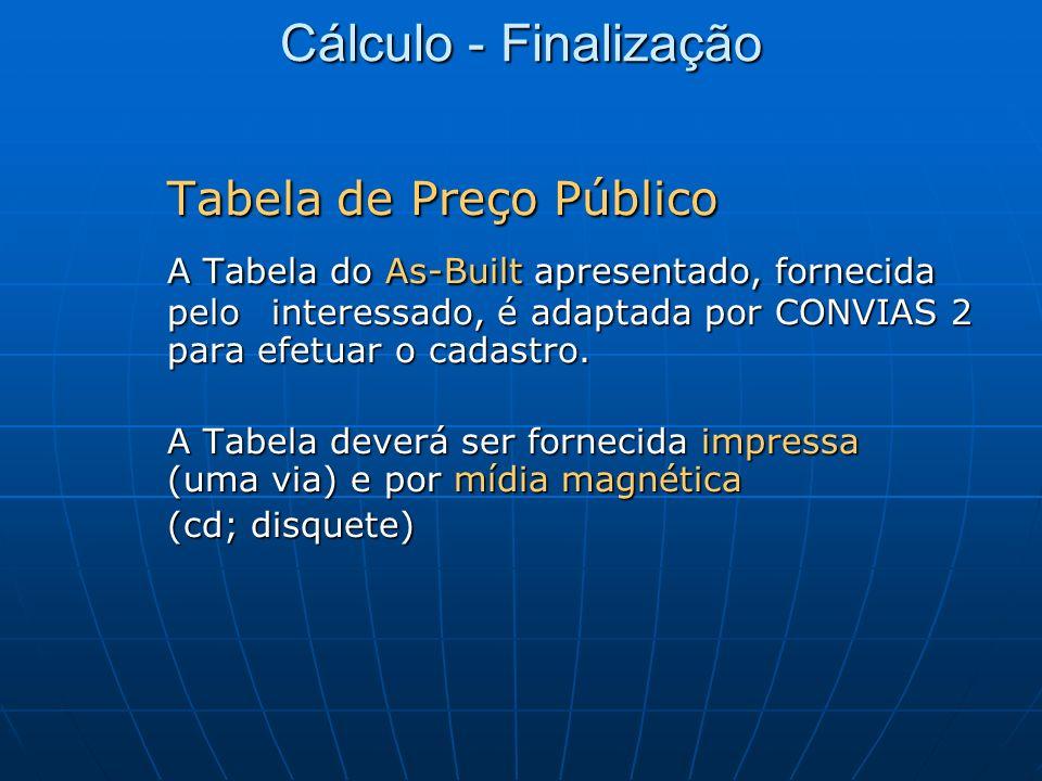 Tabela de Preço Público