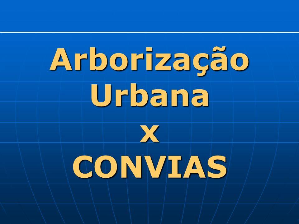 Arborização Urbana x CONVIAS