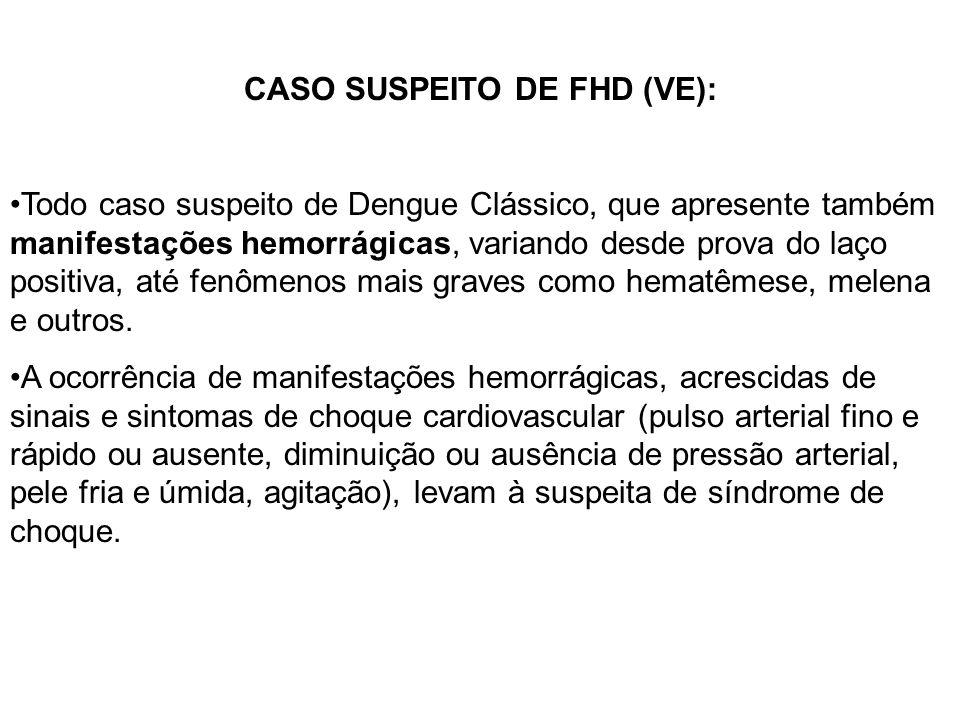 CASO SUSPEITO DE FHD (VE):