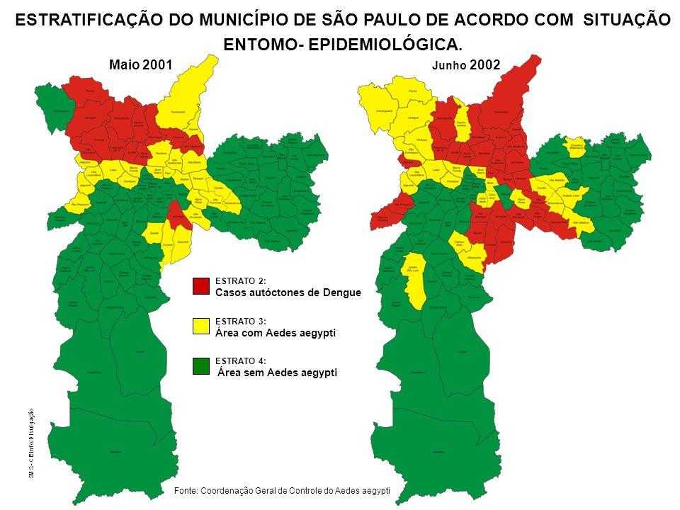 ESTRATIFICAÇÃO DO MUNICÍPIO DE SÃO PAULO DE ACORDO COM SITUAÇÃO