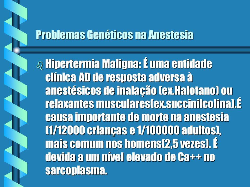 Problemas Genéticos na Anestesia