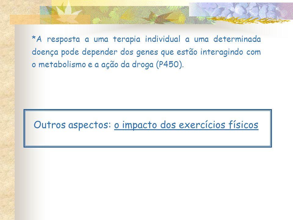Outros aspectos: o impacto dos exercícios físicos