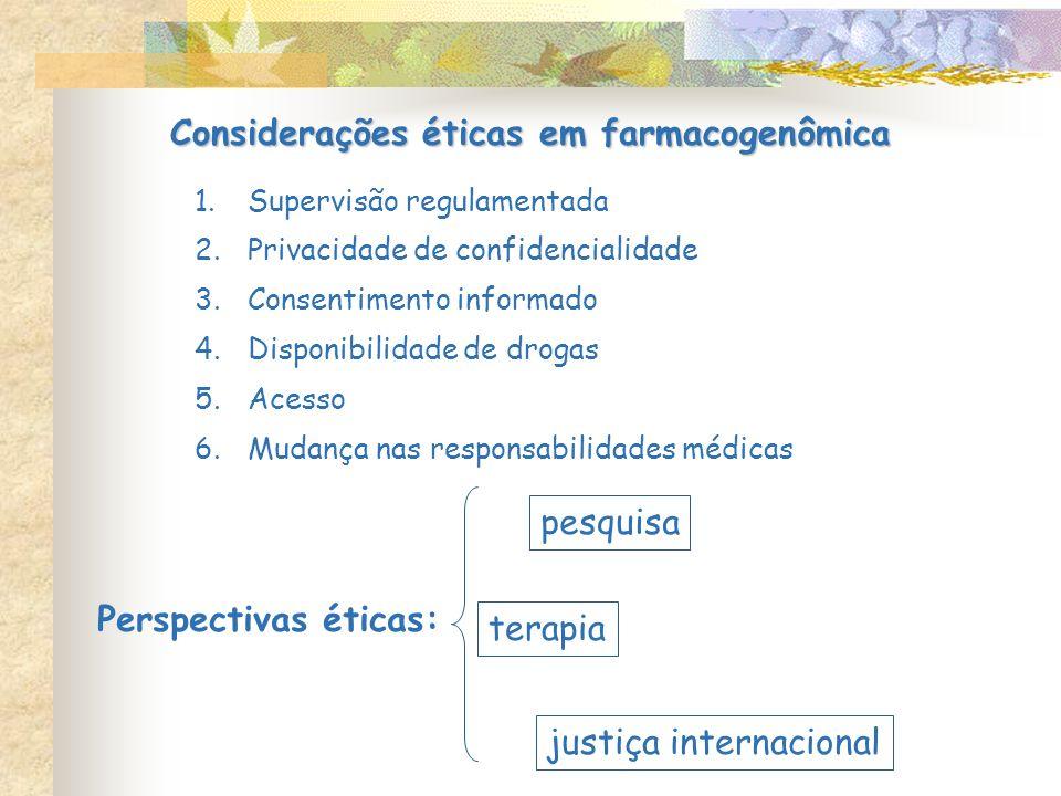 Considerações éticas em farmacogenômica
