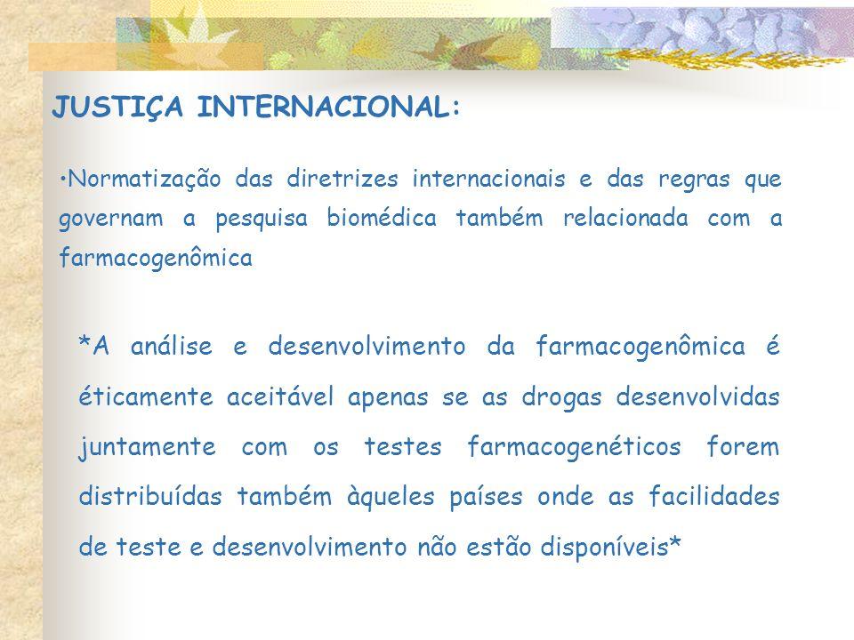 JUSTIÇA INTERNACIONAL: