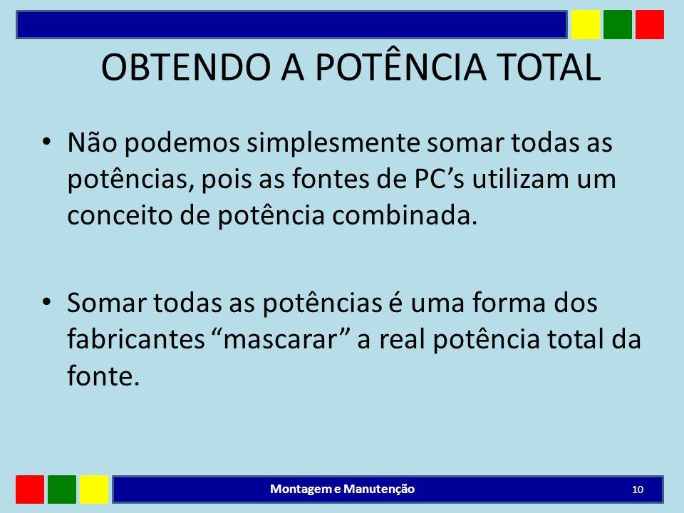 OBTENDO A POTÊNCIA TOTAL