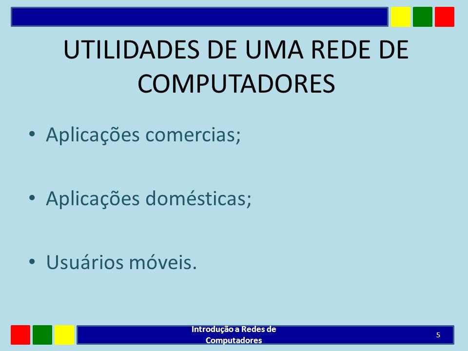 UTILIDADES DE UMA REDE DE COMPUTADORES