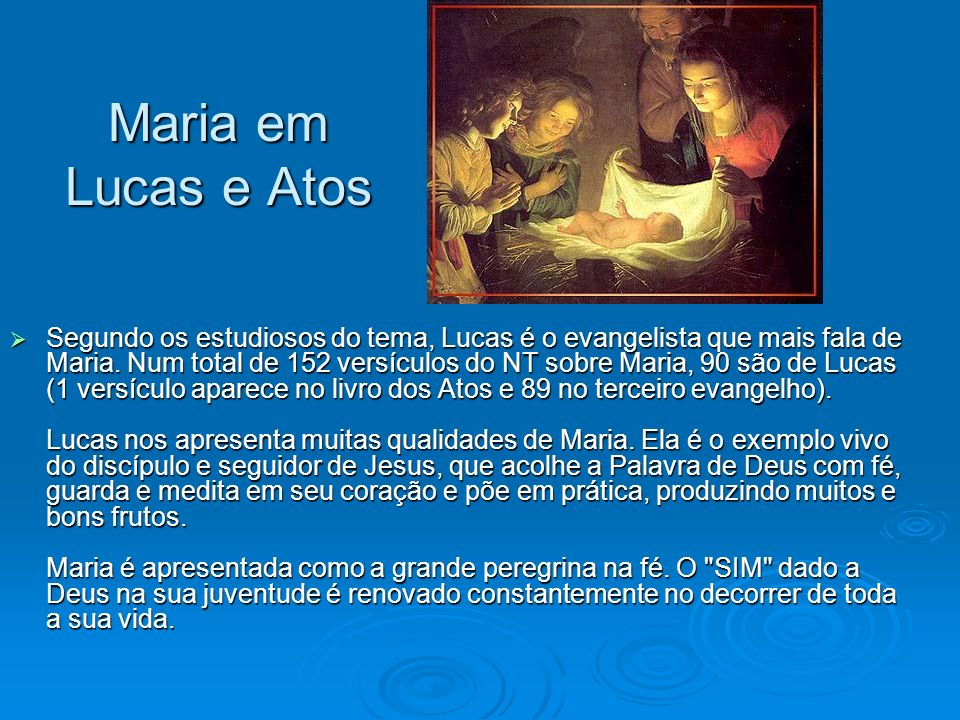 Maria em Lucas e Atos