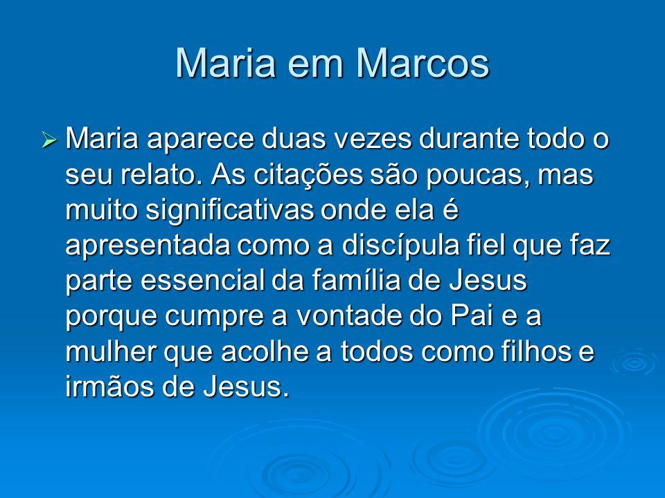 Maria em Marcos