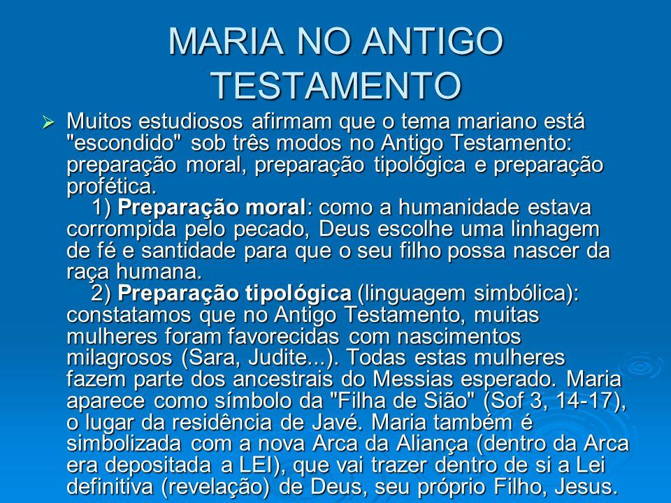 MARIA NO ANTIGO TESTAMENTO
