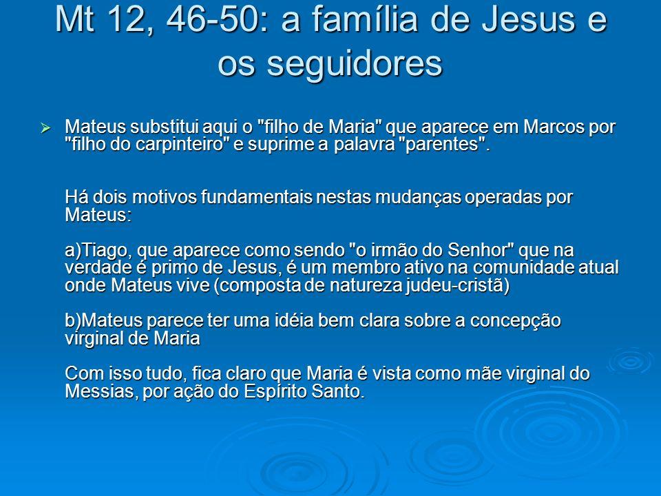 Mt 12, 46-50: a família de Jesus e os seguidores
