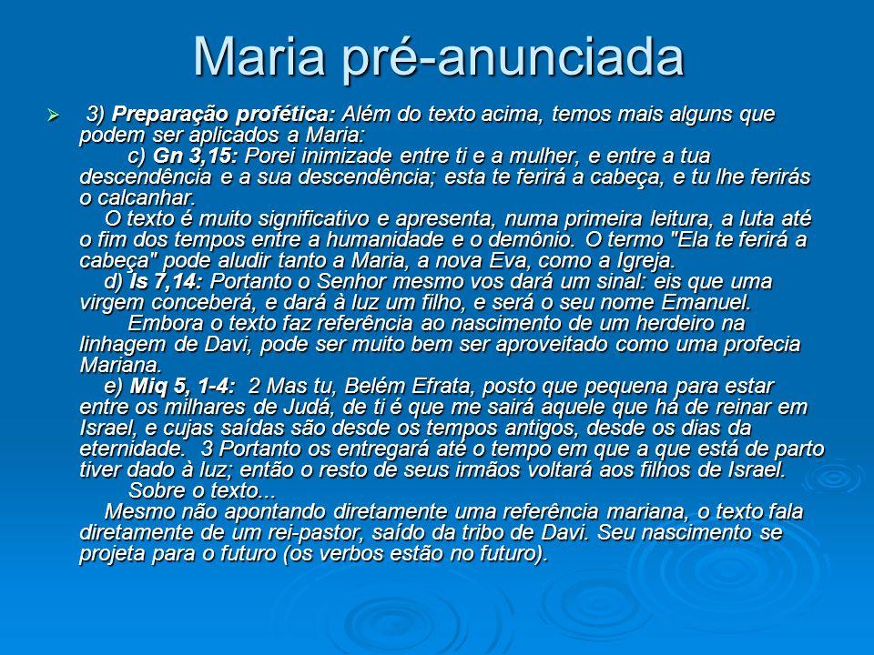 Maria pré-anunciada