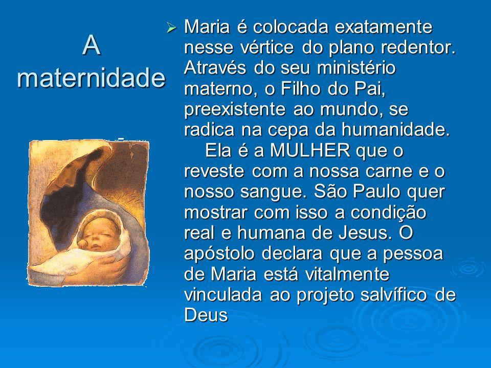Maria é colocada exatamente nesse vértice do plano redentor