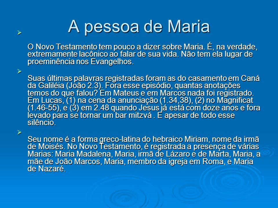 A pessoa de Maria