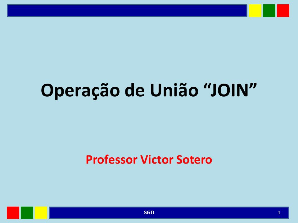 Operação de União JOIN