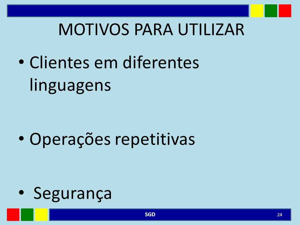 Clientes em diferentes linguagens