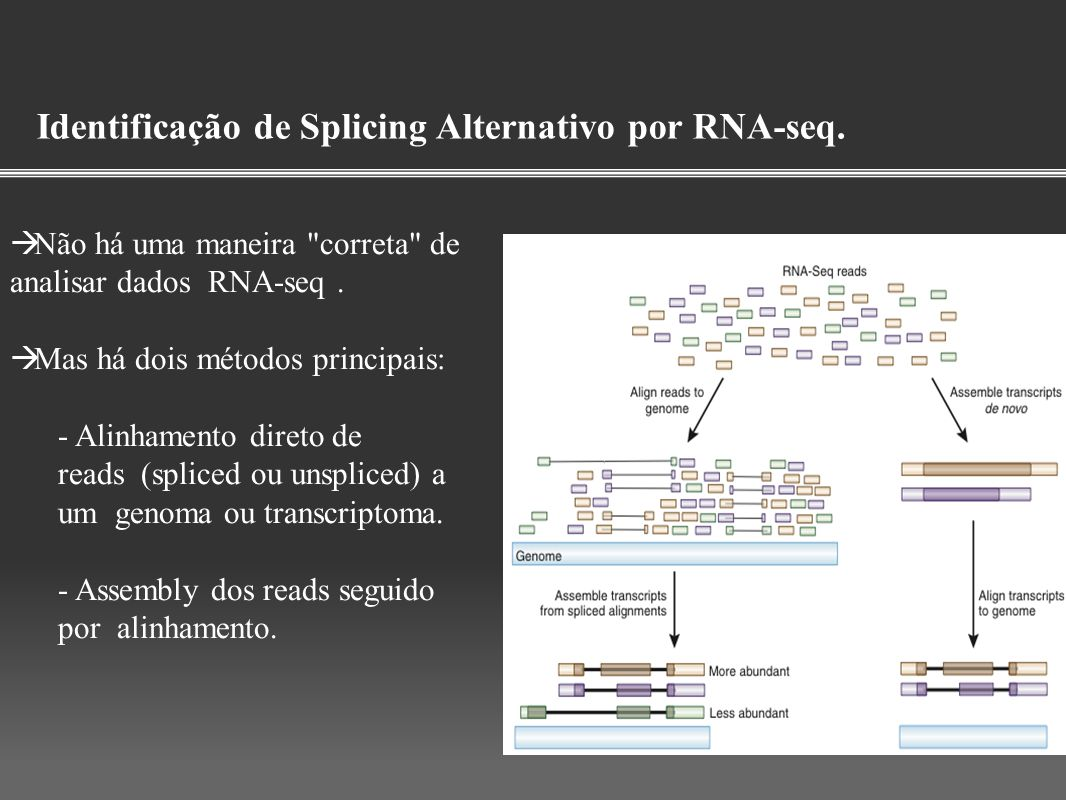 Identificação de Splicing Alternativo por RNA-seq.
