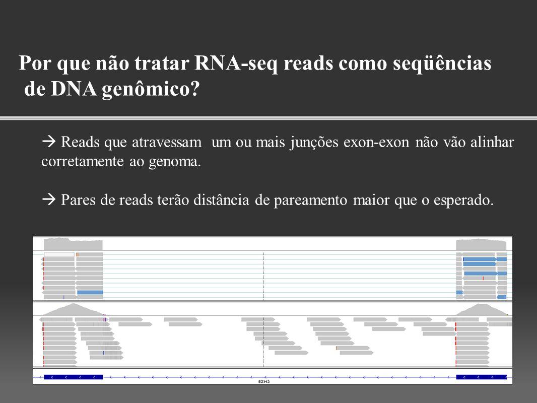 Por que não tratar RNA-seq reads como seqüências de DNA genômico