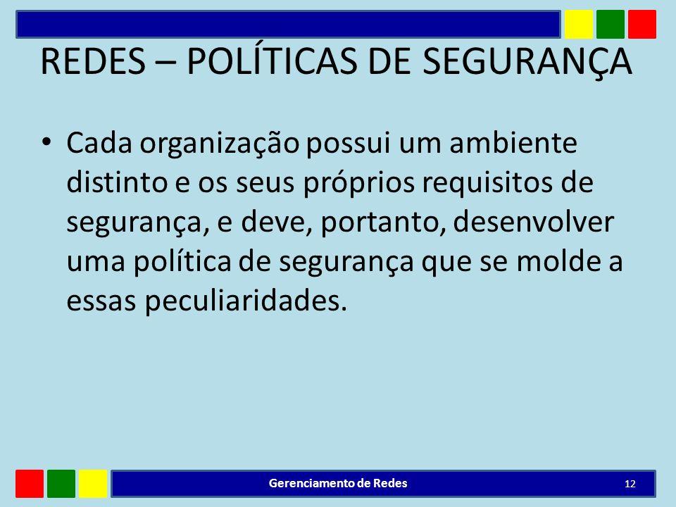 REDES – POLÍTICAS DE SEGURANÇA