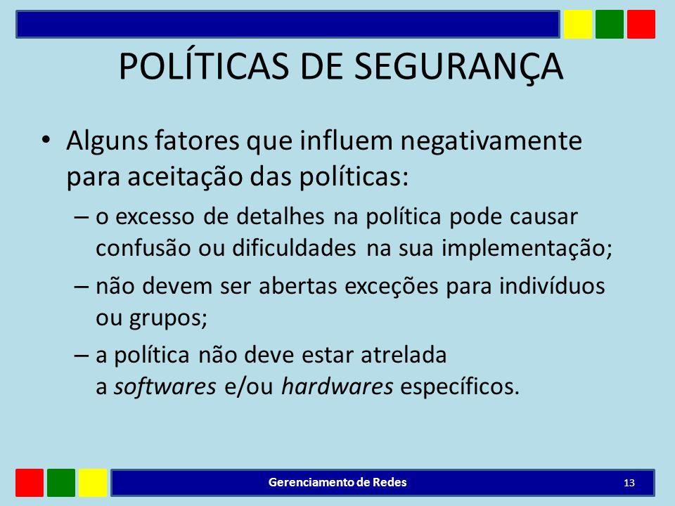 POLÍTICAS DE SEGURANÇA